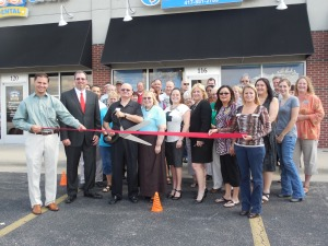 "We had a ""ribbon cutting"" ceremony at the Grand Opening of our new location."